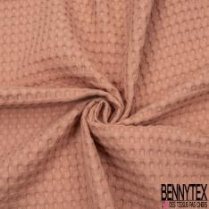 Coton Nid d'Abeille Piqué Bubble Gaufré XL Marsala