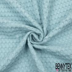Coton Nid d'Abeille Piqué Bubble Gaufré XL Bleu Layette