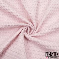 Coton Nid d'Abeille Piqué Bubble Gaufré XL Rose Pastel