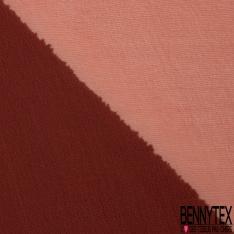 Mousseline de Soie Changeante Turquoise Blanc