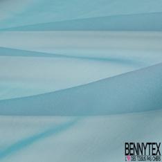 Mousseline de Soie Changeante Lagon Blanc