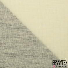 Maille Côtelée 1x1 Billom de Laine Unie Mayonnaise