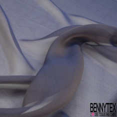 Mousseline de Soie Changeante Bleu Roi Crème