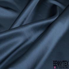 Satin Polyester Elasthanne Navy