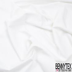 Coupon 3m Crêpe Polyester Elasthanne Uni Blanc Cassé