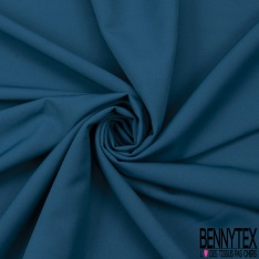 Coupon 3m Crêpe Polyester Elasthanne Uni Bleu Canard