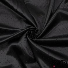 Doublure Polyester Plumetis Satiné Ton sur Ton fond Noir