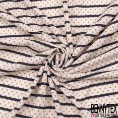 Jersey Polyester Motif Lurex Argent Fond noir