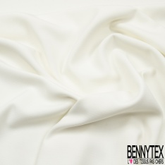 Double Crêpe Polyester Elasthanne Tailleur Uni Blanc Cassé