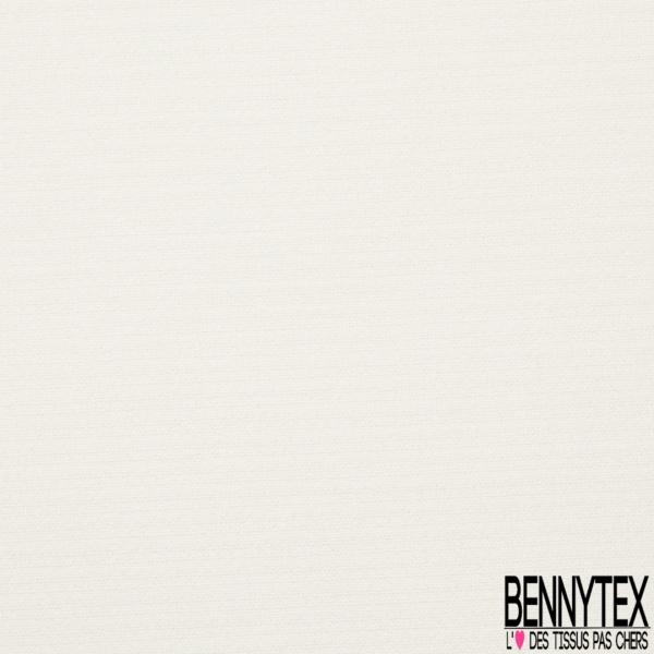 Double Crêpe Polyester Elasthanne Tailleur Uni Ecru