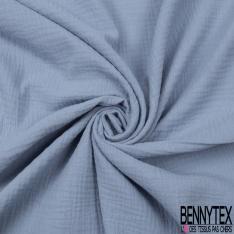 Coton Double Gaze Bleu Cérulé