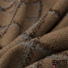 Laine Bouillie Prince de Galles camel marron et gris