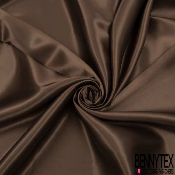 Doublure Acétate Satinée Lourde Chocolat au Lait