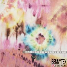 Molleton Léger Digitale Haute Résolution Tie and Die Seventies Multicolore