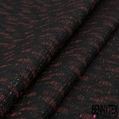 Brocart Coton Tissé motif Mini Léopard Bordeaux Orange Noir LUREX Canon de Fusil