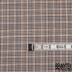 Fibranne Viscose Coton Souple Pied de Poule LUREX Or