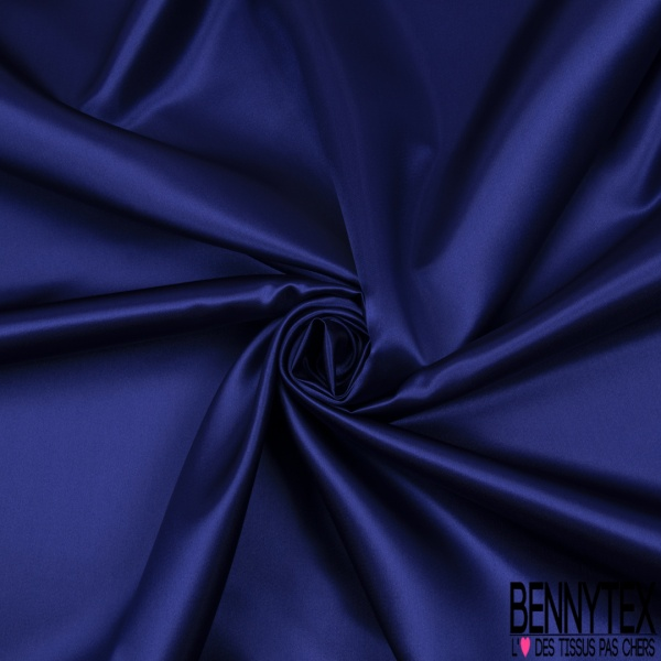 Doublure Acétate Satinée Lourde Bleu Electrique