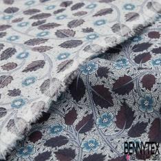 Coupon 3m Coton Elasthanne imprimé Motif Rayure Verticale Jaune Or Rouge Blanc