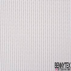 Coton imprimé Motif Petite Couronne Dorée fond Blanc
