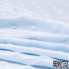 Minky Etoile effet Gaufré Uni Bleu Layette