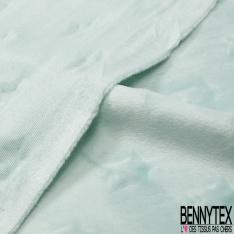 Minky Etoile effet Gaufré Uni Crème