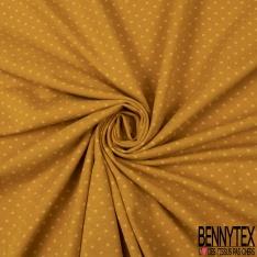 Jersey Coton Elasthanne Imprimé Dots Gris Souris fond Gris Clair