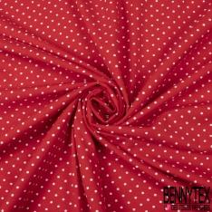 Jersey Coton Elasthanne Imprimé Dots Jaune fond Moutarde