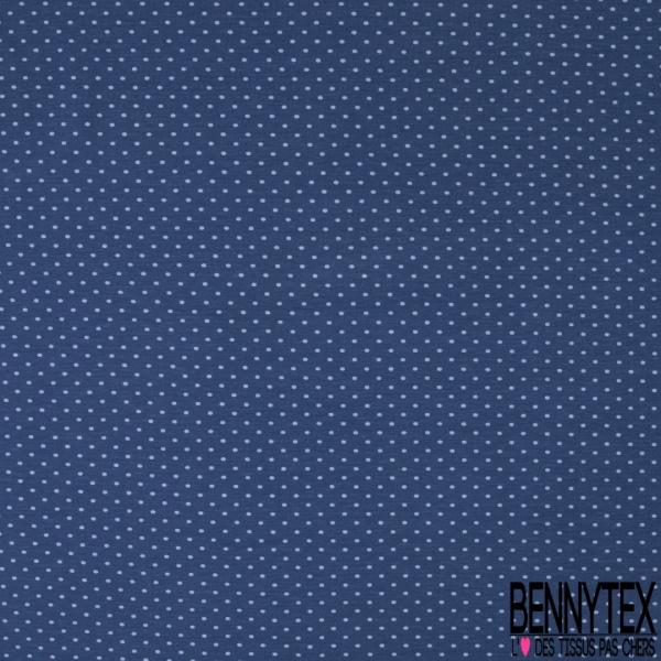 Jersey Coton Elasthanne Imprimé Dots Blanc fond Rouge