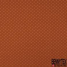Jersey Coton Elasthanne Imprimé Dots Moutarde fond Camel