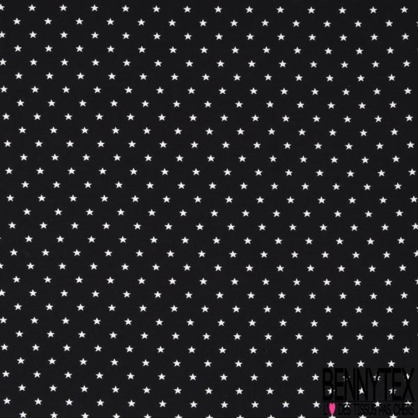 Jersey Coton Elasthanne Imprimé Petite Etoile fond