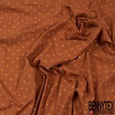 Jersey Coton Elasthanne Imprimé Petite Etoile vert Givré fond Sauge