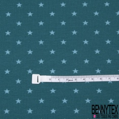 Jersey Coton Elasthanne Imprimé Petite Etoile Ciel fond Marine