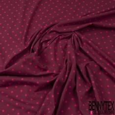 Jersey Coton Elasthanne Imprimé Petite Etoile Rose Pâle fond Vieux Rose
