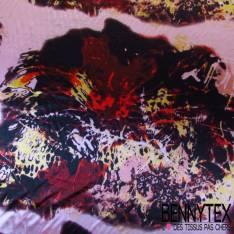 Satin Polyester Imprimé Tache Fond Vieux Rose