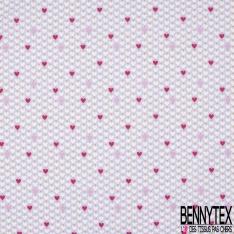 PUL de Jersey de Coton Imperméable Imprimé Etoile fond Framboise