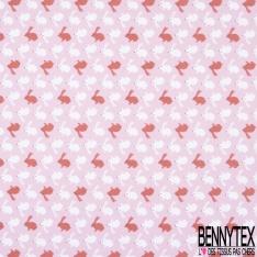 Jersey Coton Elasthanne Imprimé Floral esprit Papier Peint fond Mordoré