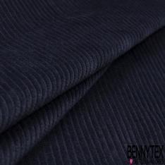 Velours Coton Côtelé Bleu de Minuit
