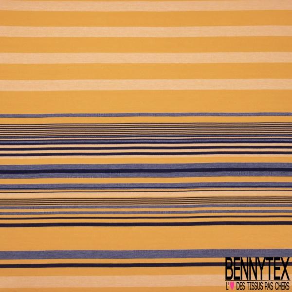Jersey Coton Elasthanne Imprimé Petit Bouquet de Ballons Multicolores fond Bleu Nuit