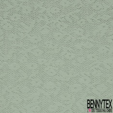 Maille Coton Tricotée Noir Ajourée