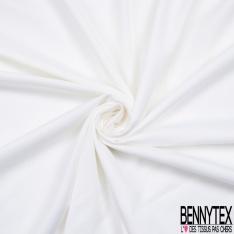 Coupon de 3m Maille Double Face Coton Polyamide Recto Piquée Orange Verso Jersey Blanc