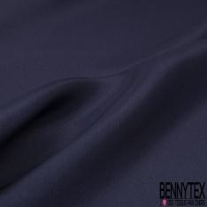 Pongé de Soie Uni Bleu Indigo
