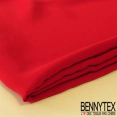 Coupon Double Crêpe Polyester Rouge