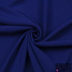 Coupon 3m Crêpe Polyester Viscose Elasthanne Uni Bleu Pure
