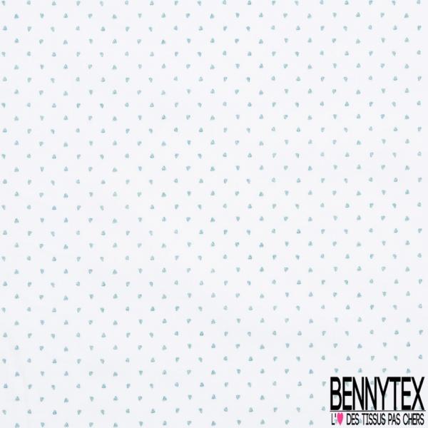 Popeline Coton imprimé Petit Feuillage Blanc Pourpre Dalhia Griffon fond Sac de Marin