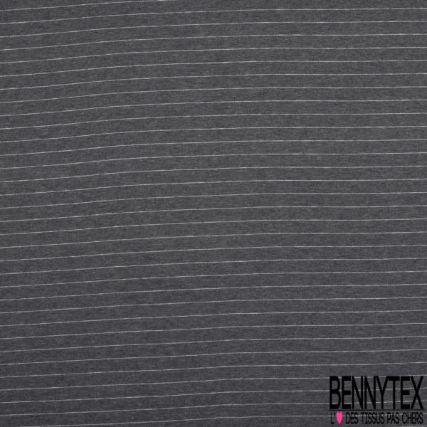 Jersey Coton Interlock Imprimé Thème Jardin d'Eté fond Blanc Discret