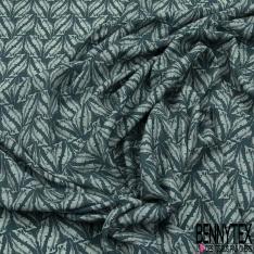Crêpe Viscose imprimé Amérindien Multicolore fond Blanc Texturé Losange