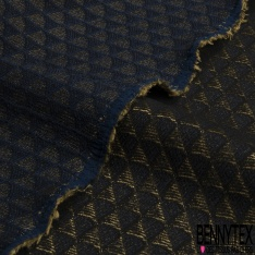 Brocart Velours Strié Horizontale Chiné Lurex Argent Noir Vert Cristallin