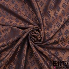 Brocart Fin Souple Triangle Sergé Lurex Or Blanc Bleu Clair de Lune Noir