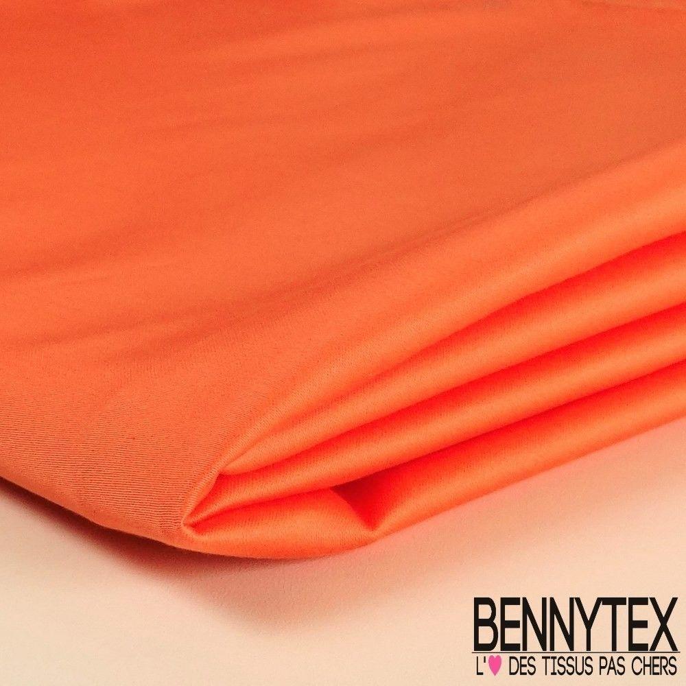 coupon satin de coton orange saumon bennytex vente de tissus pas cher au m tre. Black Bedroom Furniture Sets. Home Design Ideas