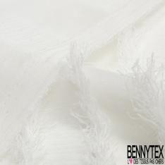 Mousseline Polyester Crêpé Gamme KENZA Couleur Blanc